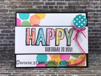 Happy Celebrations, Celebrations Duo embossing folders, #stampinup, #bjpeters, #happycelebration, #papercrafts, #birthdaycard, #handstamped, #rubberstamping