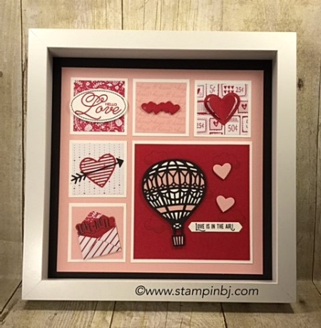 Sealed with Love, Lift Me Up, UP & Away, Love Notes, Sending Love, #liftmeup, #up&awayThinlits, #sendinglove, #lovenotesthinlits, #sealedwithlove, #frame, #valentines, #homedecore, #stampinup, #stampinbj.com, #bjpeters,