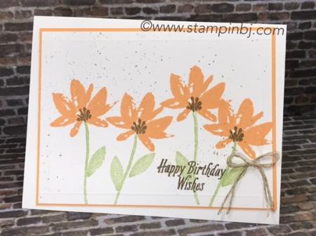 Avant Garden, Sale-a-Bration, Stampin' Up!, #avantgarden, #saleabration, #stampinup, #bjpeters, #birthdaycard, #stampinbj.com, #papercrafts, #handmadecards, #rubberstamping