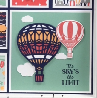 Up & Away thinlits, Lift Me Up, Carried Away, #stampinup, #liftmeup, #carriedaway, #up&away, #overtherainbow, #frame, #3d, #bjpeters, #stampinbj.com, #homedecor