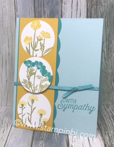 Wild about Flowers, Flourishing Phrases, #stampinup, #stampinbj.com, #bjpeters, #wildaboutflowers, #flourishingphrases, #sympathycard, #stampinupdemo
