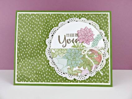 Oh So Succulent, Succulent Garden, Sending Thoughts, #ohsosucculent, #succulentgarden, #sendingthoughts, #stampinup, #stampinbj.com, #bjpeters, #stampinuptutorial, #freetutorial, #handstampedcard, #stampinupdemo, #birthdaycard