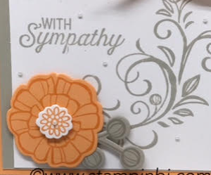 Falling Flowers, May Flowers, Stampin' Up!, #fallingflowers, #mayflowers, #stampinup, #stampinbj.com, #bjpeters, #sympathycard, #stampinupdemo, #papercraftings, #handstampedcard