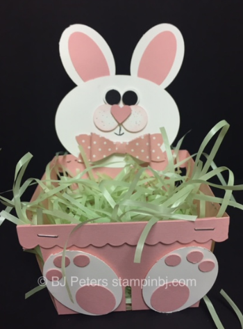 Stampin' Up!, BJ Peters, Berry Basket, Easter, 3D, Bunny