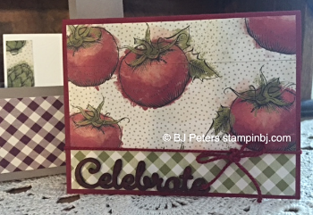 Stampin' up!, BJ Peters, Market Fresh, Natural Elements