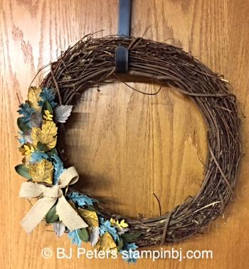 Vintage Leaves, Fall 3D, Stampin' up!, BJ Peters, Bouquet Bigz Die