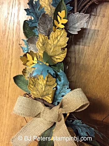 Vintage Leaves, Leaflets framelits, Stampin' up!, BJ Peters, Fall Decor