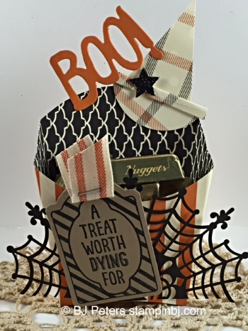 Sweet Hauntings, Boo to you framelits, Happy Haunting DSP, Fry Box, Stampin' up!, BJ Peters