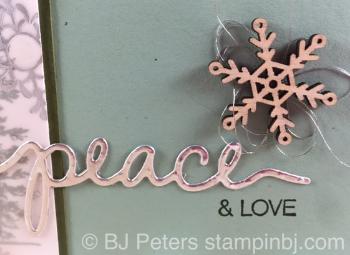 Wonderland, Holly Jolly Greetings, Christmas Greetings, Snowflake Elements, Stampin' Up!, BJ Peters