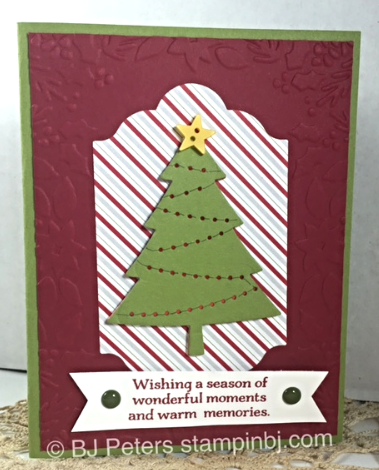 Peaceful Pines, LOTS of Labels, Stampin' Up!, BJ Peters, Merry Moments
