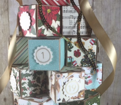 Advent Tree, Stampin' Up!, BJ Peters, Home for Christmas