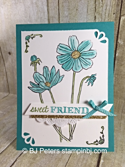 Helping Me Grow, Occasions 2016, Stampin' Up!, BJ Peters, Curvy Corner Trio, Watercoloring
