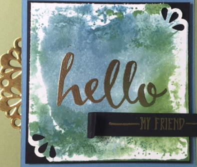 Hello, Stampin' UP!, BJ Peters, Metallic Doily,