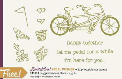 Pedal Pusher, Stampin' Up!, BJ Peters, Sale-a-Bration