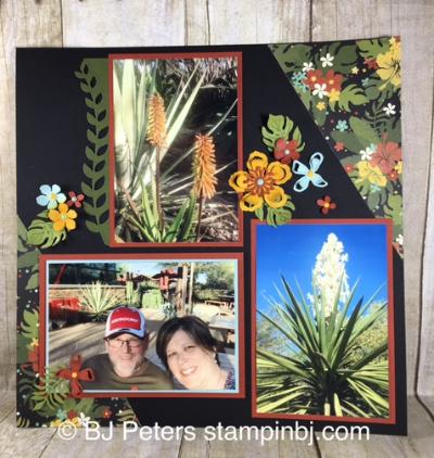 Botanical Builder framelits, Botanical Gardens designer series paper, memory keeping, scrapbook, Stampin' up!, BJ Peters