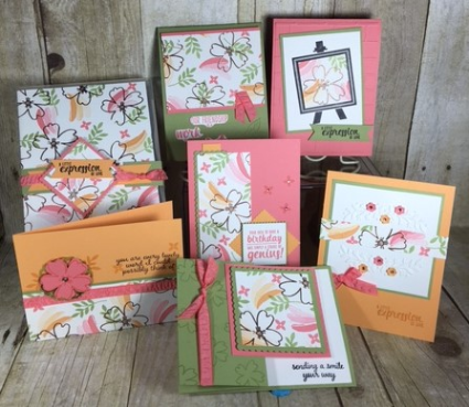 Love & Affection, Painters Palette, Floral Affection, Class in the mail, Stampin' Up!, BJ Peters, #stampinbj, #bjpeters, #stampinuptutorial, #classinthemail