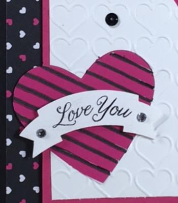 Gift of Love, Pop of Pink specialty designer series paper, happy heart embossing folder, stampin' up!, Bj peters