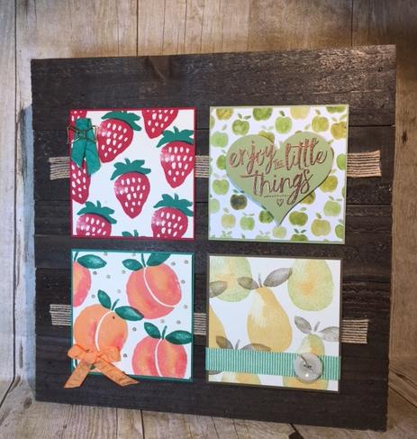 Fresh Fruit, Frame, Stampin' Up!, BJ Peters, Stampinbj, #freshfruit, #bjpeters, #stampinbj.com, #stampinup, layering love, #layeringlove