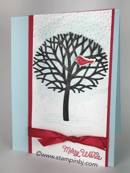 Thoughtful Branches, Stampin' up!, Oh What Fun!, Christmas Card, #thoughfulbranches, #ohwhatfun, #christmascard, #stampinup, #bjpters, #stampinbj.com