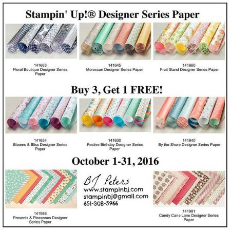 Designer Series Paper, Stampin' Up!, BJ Peters, #designerseriespapersale, #stampinupsale, #stampinbj.com