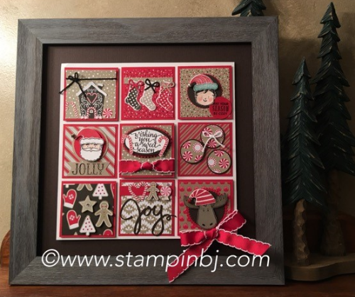 Candy Cane Christmas, Frame, Stampin' Up!, BJ Peters, #staminup, #candycanechristmas, #frame, #christmasgift, #stampinbj.com,