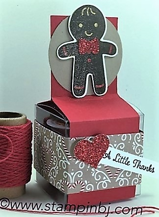 Candy Cane Lane designer series paper, Cookie Cutter Christmas, Suite Seasons, Clear Tiny Treat Box, #cookiecutterchristmas, #cleartinytreatbox, #candycanelanedesignerseriespaper, #suiteseasons, #bjpeters, #stampinbj.com,