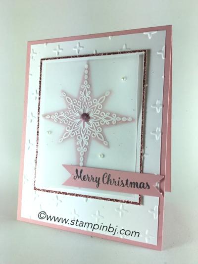 Star of Light, Stampin' Up!, BJ Peters, #staroflight, #christmascard, #embossing, #stampinup, #bjpeters, #stampinbj.com