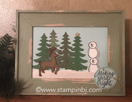 Santa's Sleigh, Snow Place, Snow Friends, Stampin' up!, BJ Peters, #snowfriends, #snowplace, #santa'ssleigh, #stampinbj.com