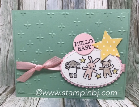 Moon Baby, Stampin' Up!, #moonbaby, #stampinup, #stampinbj.com, #bjpeters, #babycard, #stampinupdemonstrator, #papercrafts, #handstampedcard,