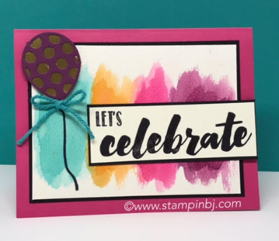 Happy Celebrations, Big on Birthdays, Balloon Pop-up thinlits, #bigonbirthdays, #balloonpopupthinlits, #stampinup, #stampinbj.com, #bjpeters, #birthdaycard, #embossing, #stampinupdemonstrator, #handstampedcard, #happycelebrations