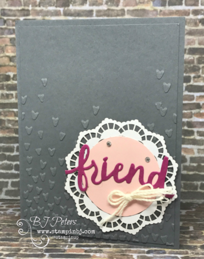 Lovely Inside & Out, Lovely Words Thinlits Dies, #lovelyinside&out, #lovelywordsthinlitsdies, #sneakpeek, #2017Stampin'Up!, #stampinbj.com, #bjpeters, #stampinup, #diy, #papercrafting, #stampinupdemo