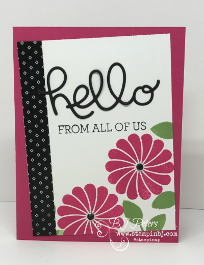 Crazy About You, Pop of Pink, Hello You Thinlits, #crazyaboutyou, #helloyouthinlits, #popofpinkwashitape, #stampinup, #stampinbj.com, #bjpeters, #stampinupdemo, #diy, #diypapercrafting, #birthdaycard